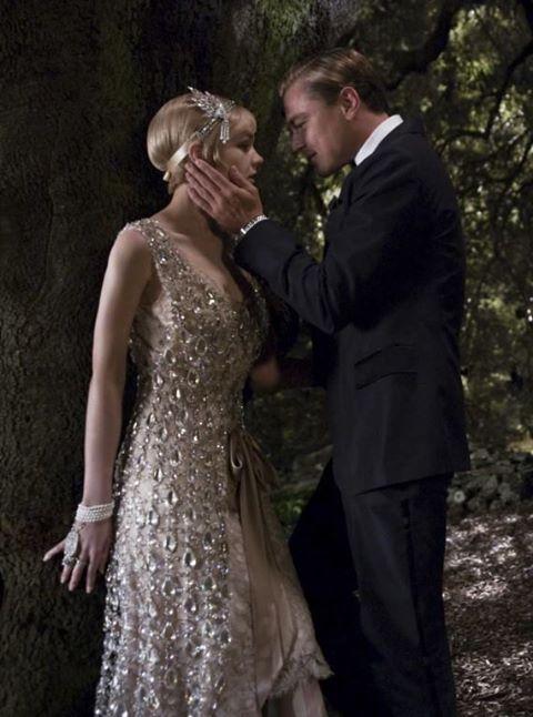 The Great Gatsby film shot with Leonardo DiCaprio