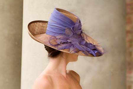 Ascot 'Season' hat in mauve and bronze designed by Nicky Zip