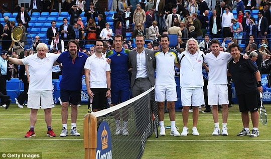 Ross Hutchins and team at the Rally Against Cancer Celebrity Tennis Match for The Royal Marsden
