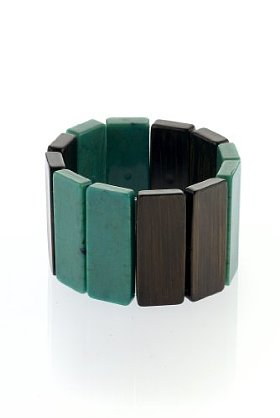 Rectangular Stretch Block Bracelet by M&S Collection