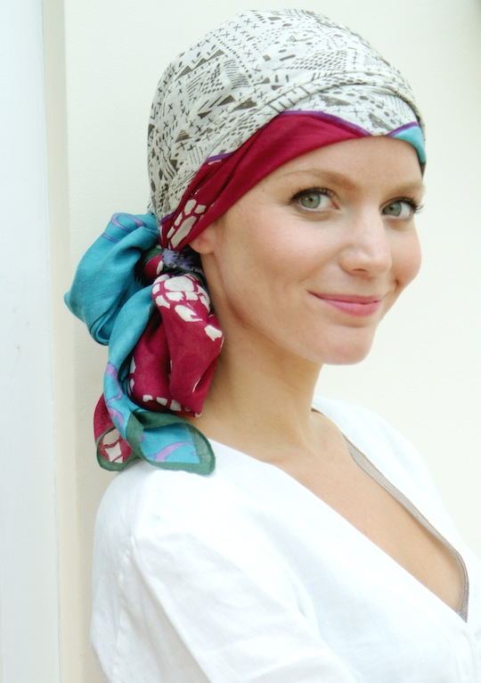 Suburban Turban Modal silk square chemo scarf uk