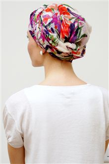Floral headscarves for chemo headwear
