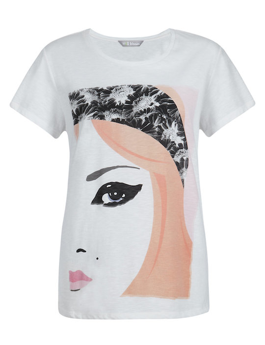 M&S Cream Face Paint T Shirt