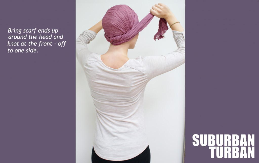 How to tie a turban for female hair loss - step 4
