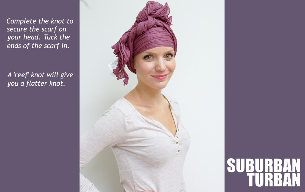 How to tie a turban for female hair loss