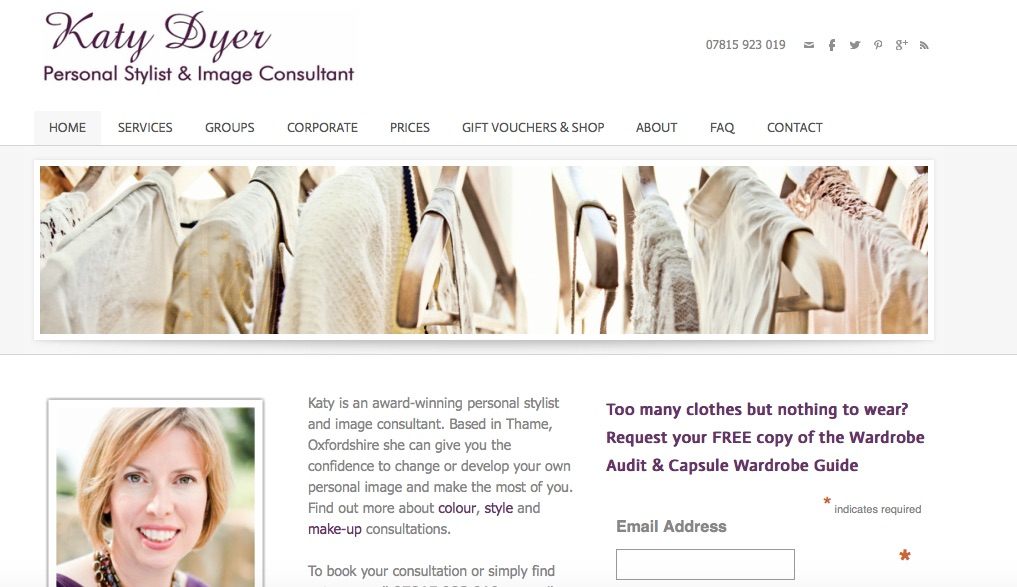 Katy Dyer image consultant website