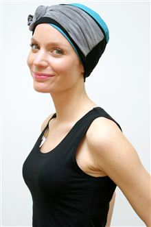 Wide headband for hair loss by Suburban Turban